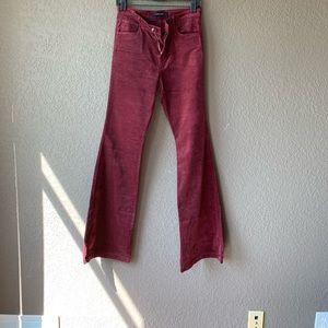 J. Brand Mafha flare ox blood 28 velvet feel jeans